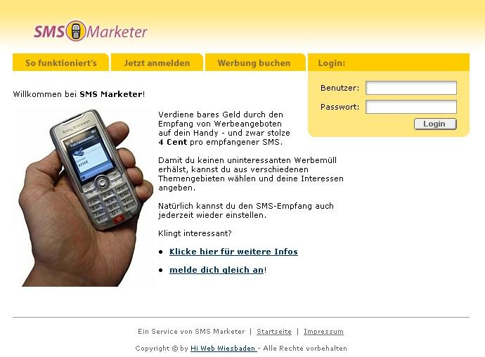 PHP Script SMS Marketing System