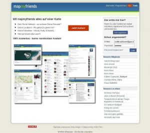 PHP Script Map Your Friends Social Network Community