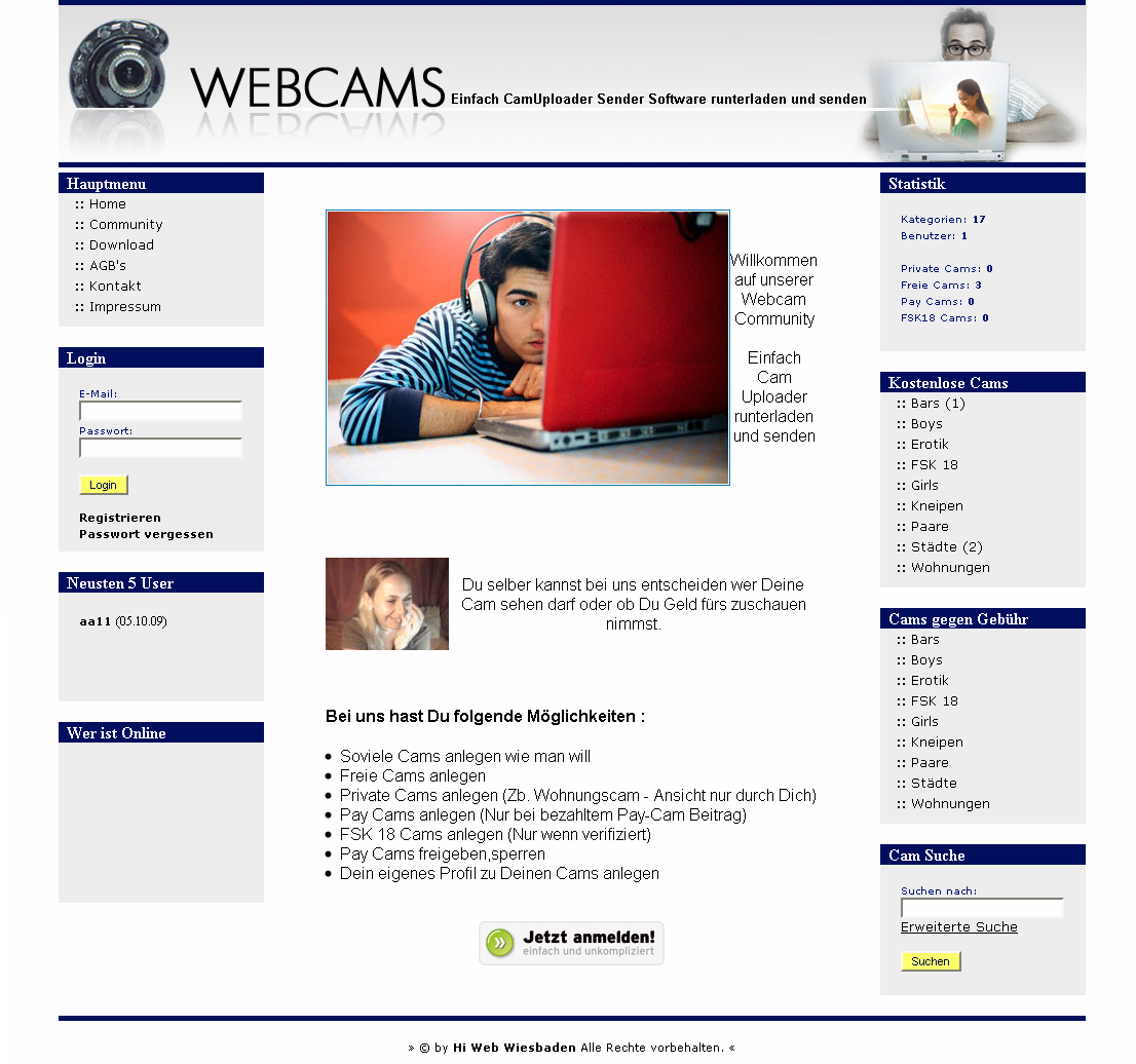 PHP Script Webcam Community System inkl Sender & Uploader Software