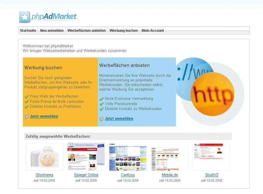 PHP Script PhpAdMarket System