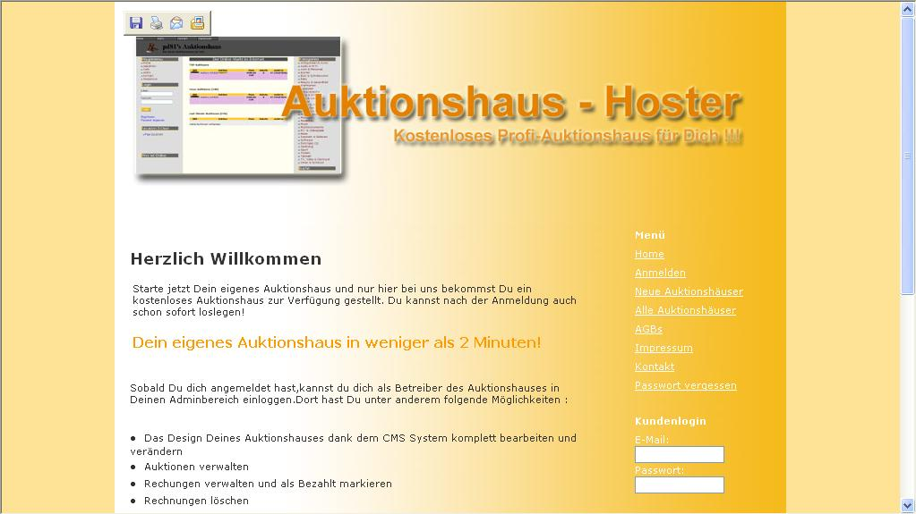 Auktionshaus Hoster Profi CMS System
